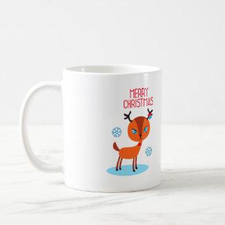 Mug Le cerf commun indique joyeux Noël !