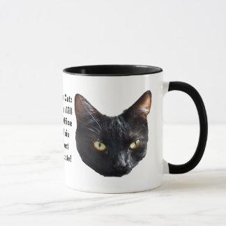 Mug Le chat de la politique aucuns rats sera dans le