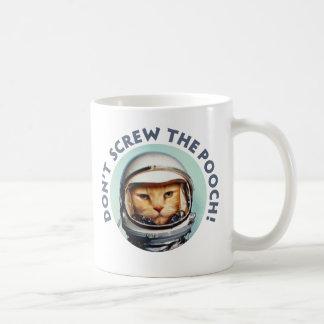 """Mug Le chat de l'espace """"tasse ne vissent pas cabot"""""""