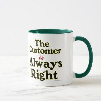 Mug Le client est toujours bonne énonciation