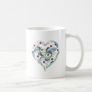 Mug Le coeur festonné