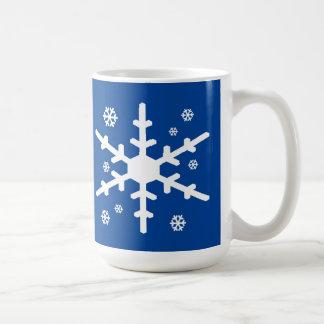 Mug Le flocon de neige blanc l'a laissé neiger dans le