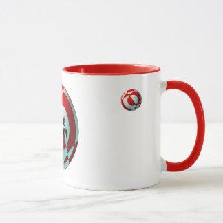 Mug Le football le rouge et le blanc d'équipe