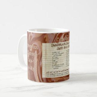 Mug Le gâteau de chocolat dans une recette de tasse,