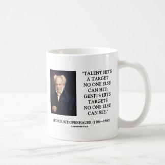 Mug Le génie de talent de Schopenhauer frappe des