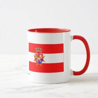 Mug Le Grand-Duché de bannière blanche rouge de la