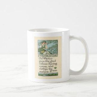 Mug Le jour vintage de St Patrick de shamrock de
