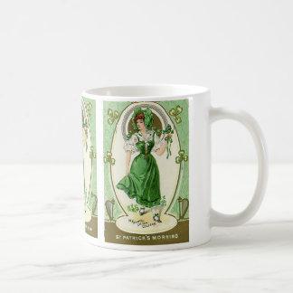Mug Le jour vintage de St Patrick, mon assez Irlandais