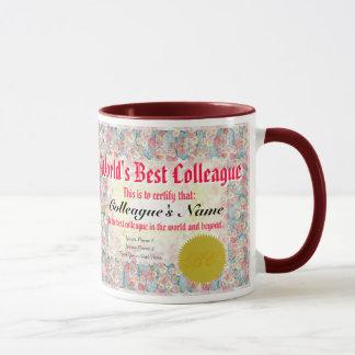 Mug Le meilleur certificat du collègue du monde