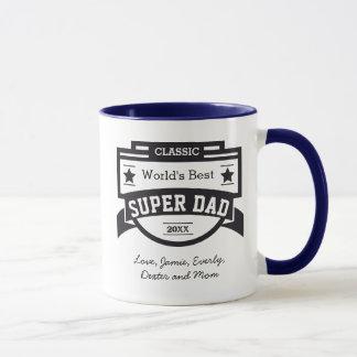 Mug Le meilleur papa SUPERBE du monde personnalisé