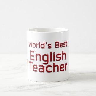 Mug Le meilleur professeur d'Anglais du monde avec des
