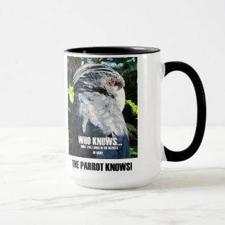 Mug Le perroquet sait