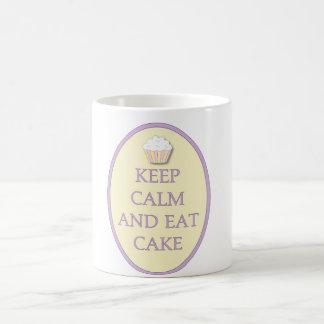 Mug Le petit gâteau d'amusement gardent le calme pour