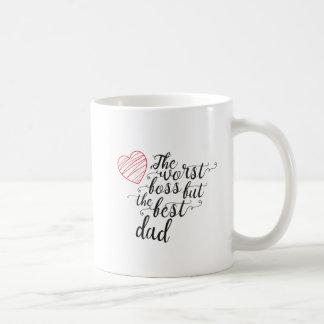 Mug Le plus mauvais patron, mais le meilleur papa
