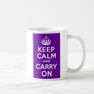 Mug Le pourpre gardent le calme et continuent