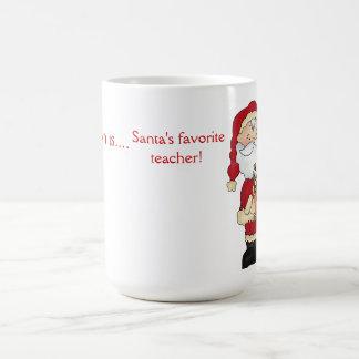 Mug Le professeur préféré de Père Noël