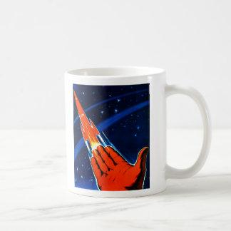 Mug Le rétro espace vintage de Soviétique de Sci fi