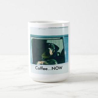 "Mug Le rottweiler ""café MAINTENANT"" attaquent"
