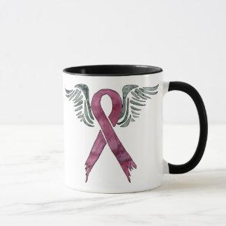 Mug le ruban et les ailes roses, me personnalisent !