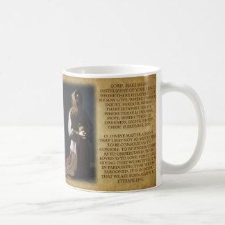 Mug Le St Francis de la prière d'Assisi