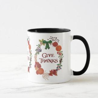Mug Le thanksgiving fait sur commande donnent la
