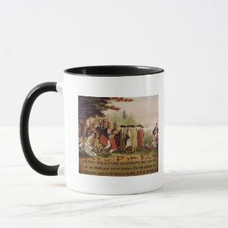 Mug Le Traité de Penn avec les Indiens en 1682, c.1840
