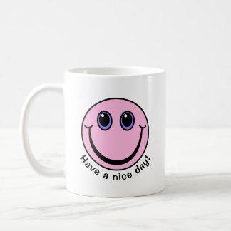 Mug Le visage souriant rose ont un beau jour