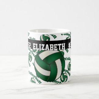 Mug Le volleyball vert-foncé | personnalisent