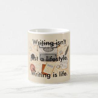 Mug L'écriture est la vie