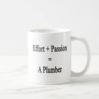 Mug L'effort plus la passion égale un plombier