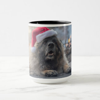 Mug Leonberger Père Noël