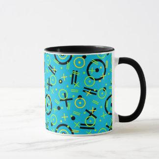 Mug les années 80/motif bleu au néon des années 90