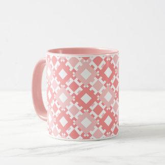 Mug Les carrés géométriques de rose en pastel