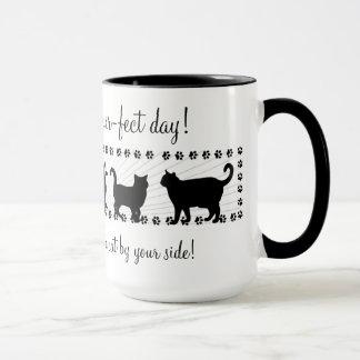 Mug Les chats attaquent en abondance - les silhouettes
