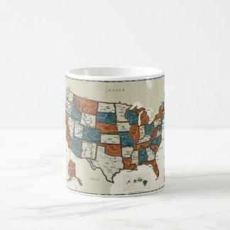 Mug Les Etats-Unis - Carte vintage