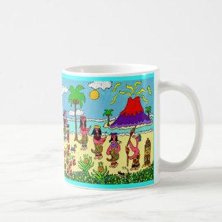 Mug Les flamants vont Hawaïen