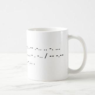 Mug Les gremlins de Morse ont infesté ma maison