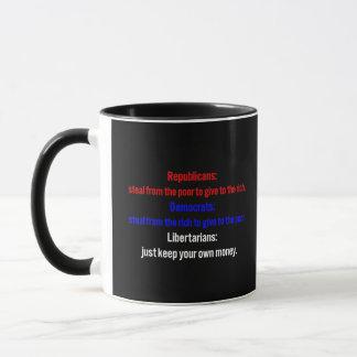 Mug Les libertaires disent gardent votre argent 1