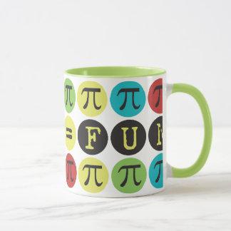 Mug Les maths égalent l'amusement - mod coloré pi -