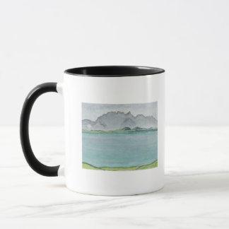 Mug Les montagnes et le lac Thun, 1911 de Stockhorn