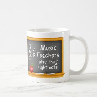 Mug Les professeurs de musique jouent la bonne note