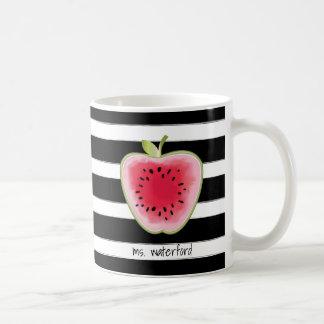 Mug Les rayures d'Apple de pastèque ont personnalisé