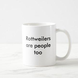 Mug Les rottweilers sont les gens aussi