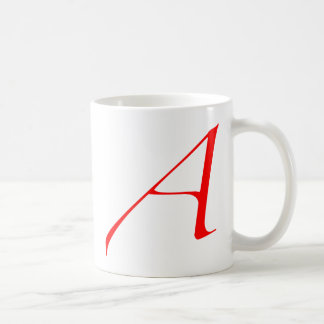 Mug Lettre d'écarlate A (pour l'athée)