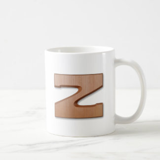 Mug lettre z de chocolat