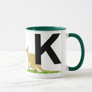Mug Lettres - K - kangourou