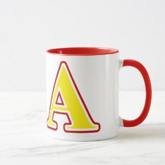 Mug Lettres rouges et jaunes d'alpha ordre de Kappa