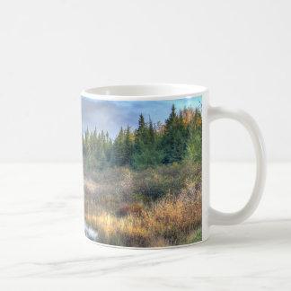 Mug Lever de soleil d'automne au lac Maine Moosehead