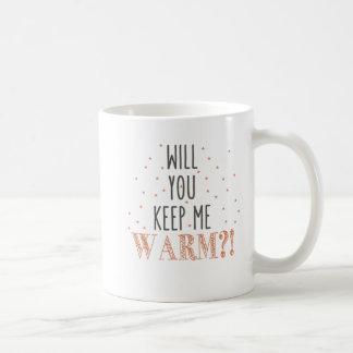 Mug L'extérieur froid/vous gardent pour chauffer la