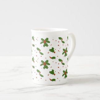 Mug L'hiver : Porcelaine tendre heureuse de motif de